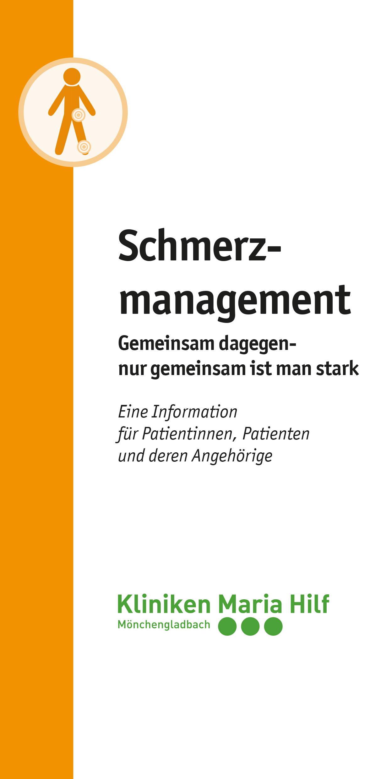 Flyer Schmerzmanagement