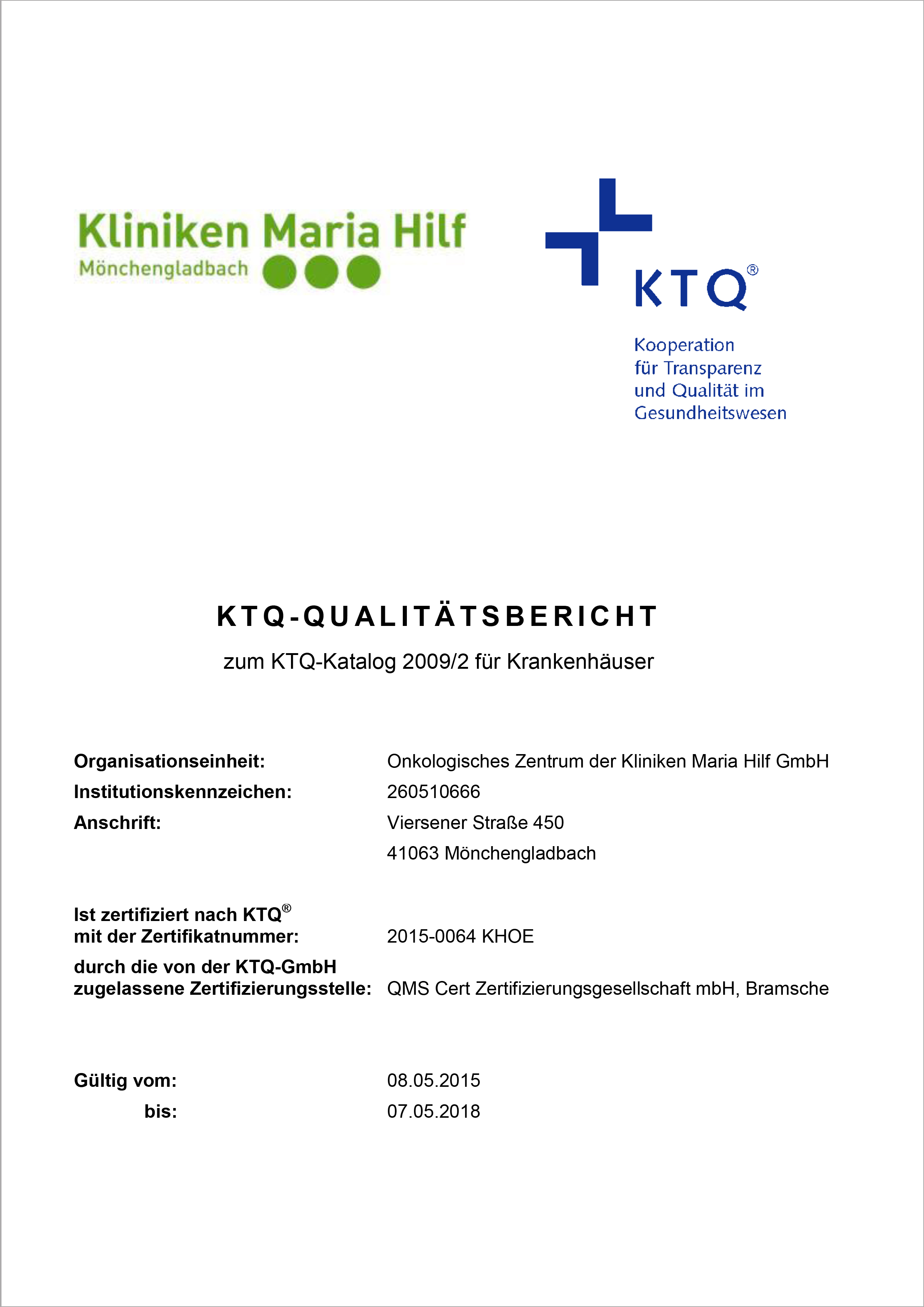KTQ-Bericht 2015